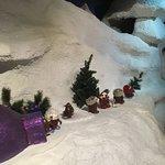 Snow display on ride