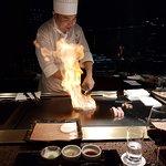 Chef cooking wagyu beef