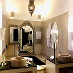 ThE bathroom is so big and luxury you don't want to leave!