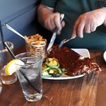 Ribs for hubby. Surf & Surf + sale At for me