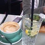 Cappuccino and ginger lemon grass soda