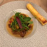Lamb Confit with mild spicies , crispy polenta and some pepper. Great!