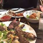 Meat plate half eaten :)