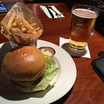 the obligatory burger and beer.