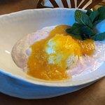 Десерт из толокна с мороженным