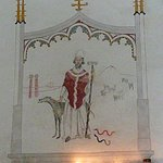 Very appropriate canine mural in the chapel.