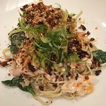 shredded chicken salad, sweet sesame & pickles