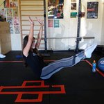V-sit hold core exercise