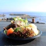 Stekt sill med potatismos och fina tillbehör