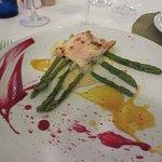 Salmon & asparagus starter
