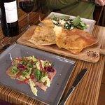 Ox tongue/ Sardinian flat bread/ Butternut and Fennel Salad