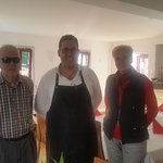 My grandparents and the restaurant's boss.