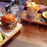 enjoying lunch at Larry's, Venice Beach