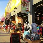 Boardwalk and shops