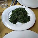 the side order of Spinach and garlic