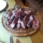 The perfectly cooked T bone as served