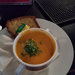 Vegetable soup with Brown Bread - Delicious!