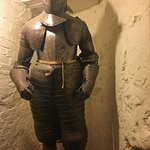 Cool old knight's amour that was standing guard over the wine cellar