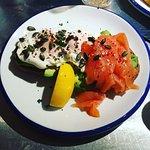 Amazing! salmon, poached eggs and avocado!