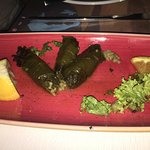 P 35 Lemon Rice in Grape Wine Leaves, a veg dish