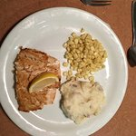 Salmon, mash and sweetcorn. I was ill the following day.