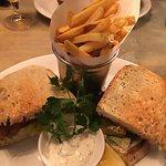 Handmade fish finger sandwich & fries