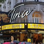 """The Aldwych Theatre, hosting """"TINA - The Tina Turner Musical""""."""