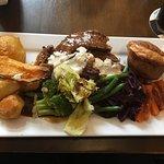 Sunday roast, chicken and beef