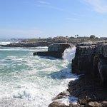 cliffs at the coastline