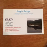 Eagle Barge business card