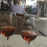 Complimentary Madeira wine