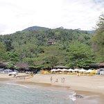 Visão geral da praia