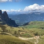 Incredible views while hiking in The Dolomites!