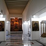 Display of medieval art in the Cathedral Museum in Mdina