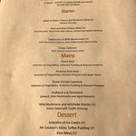 Current Sunday FP menu. Not bad.