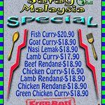 Selected Main from $16.90 with FREE ROTI. Monday & Tuesday ONLY!!!