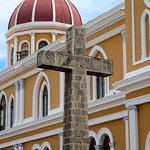 Our Lady of the Assumption Cathedral and cross outside