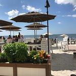 Patio seating - view of the beach and gulf