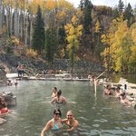 In the hot springs