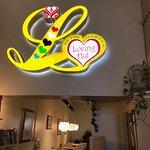 Inside Loving Hut Restaurant dining room area