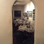 One of the beautiful and intimate back dining rooms