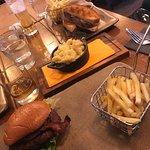Lunch - Burger, mac n cheese, steak sandwich