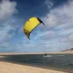 Kitesurfing in Obidos