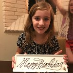 A very happy birthday girl - Thank you Midtown Grill!