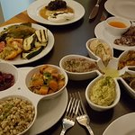 Lots of typical Maltese starters - mostly vegetarian