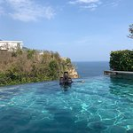 Infinity pool at the resort above Sundays