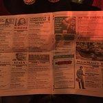 The menu in their very own newspaper