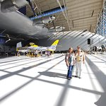 Joy & Sandy in front of the Spruce Goose