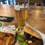 Falafel, chips and a Heineken