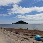 Walking on the beach to St.Michael's Mount